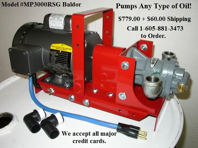 Waste Oil Transfer Filtration Pumps Made In The Usa Our High Power Pumping Systems Are Ideal
