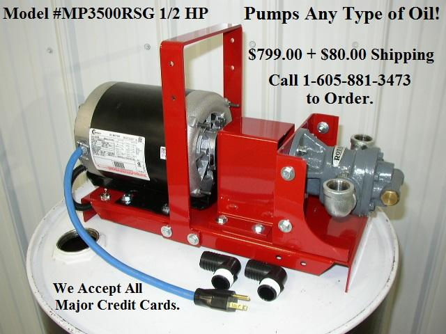 Waste Oil Transfer Filtration Pumps Made In The Usa Our High Power Pumping Systems Are Ideal For Wvo Collection And Processing They Also Work Great For Transferring And Filtering Used Motor Oil For Oil